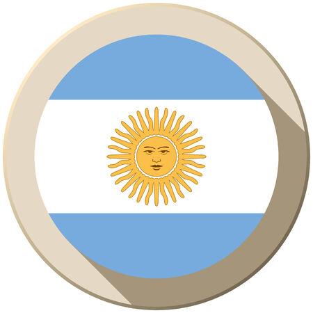 Vector - Argentina Flag Button Icon Modern Vector