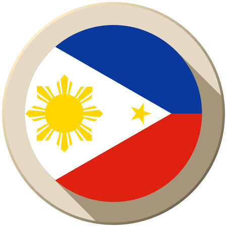philippines: Vector - Philippines Flag Button Icon Modern