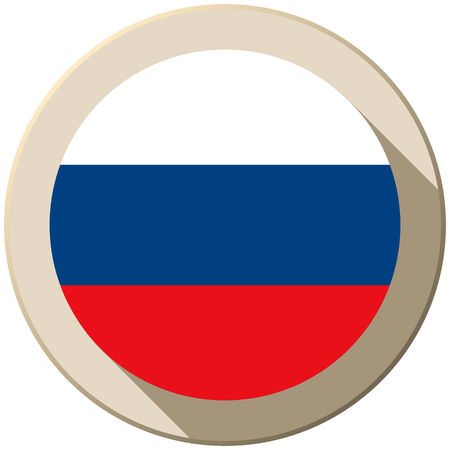 Vector - Russia Flag Button Icon Modern Vector