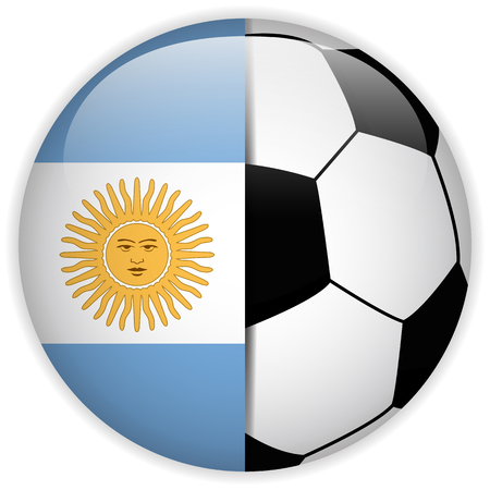Vector - Argentina Flag with Soccer Ball Background Vector