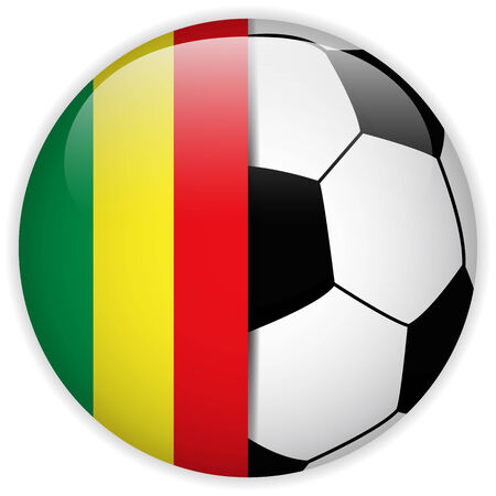 mali: Vector - Mali Flag with Soccer Ball Background