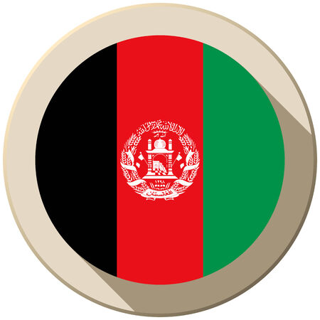 Vector - Afghanistan Flag Button Icon Modern Vector