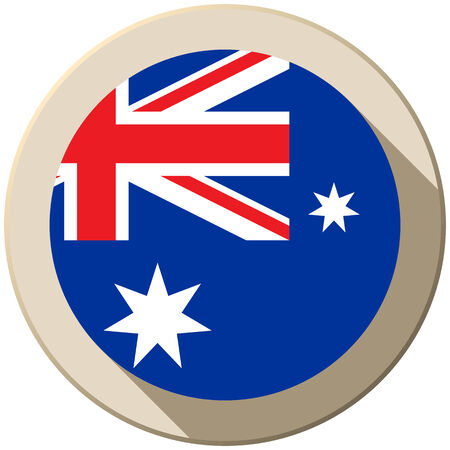Vector - Australia Flag Button Icon Modern Vector