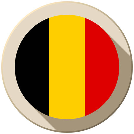 Vector - Belgium Flag Button Icon Modern Vector