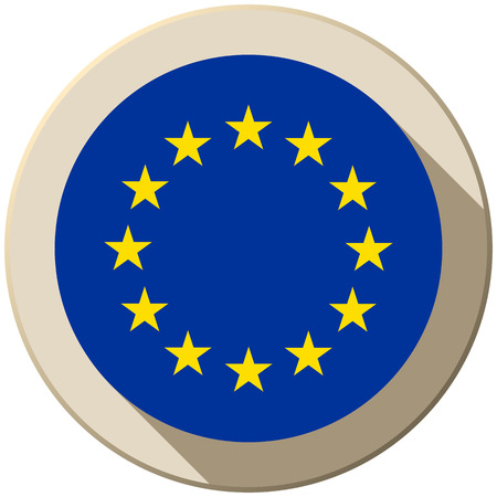 Vector - Europe Flag Button Icon Modern Vector