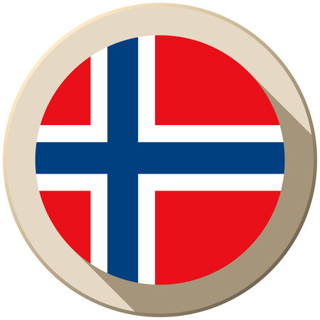 norwegian flag: Vector - Norway Flag Button Icon Modern