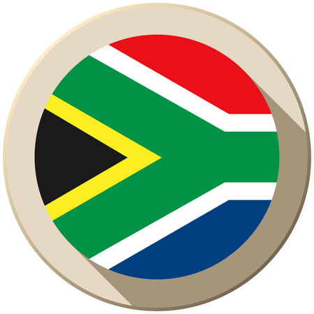 Vector - South Africa Flag Button Icon Modern Vector