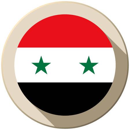 Vector - Syria Flag Button Icon Modern Vector