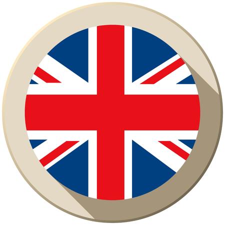 Vector - UK Flag Button Icon Modern Vector