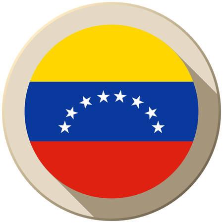 mapa de venezuela: Vector - Bandera Venezuela Icono del botón Moderno Vectores
