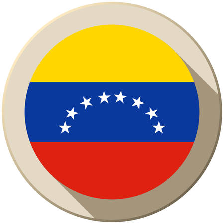 Vector - Venezuela Flag Button Icon Modern Vector