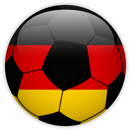 Vector - Germany Flag with Soccer Ball Background