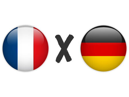 versus: Vector - Germany versus France Flag Soccer Game Illustration