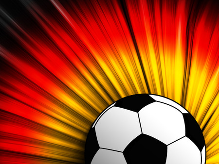 Vector - Germany Flag with Soccer Ball Background Vector