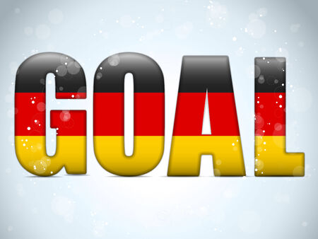 Vector - Germany Goal Soccer 2014 Letters with German Flag Vector
