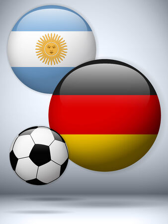 versus: Vector - Argentina versus Germany Flag Soccer Game