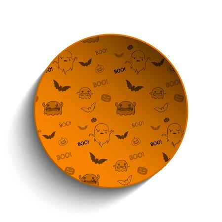 happy halloween: Happy Halloween Ghost Bat Icon Background