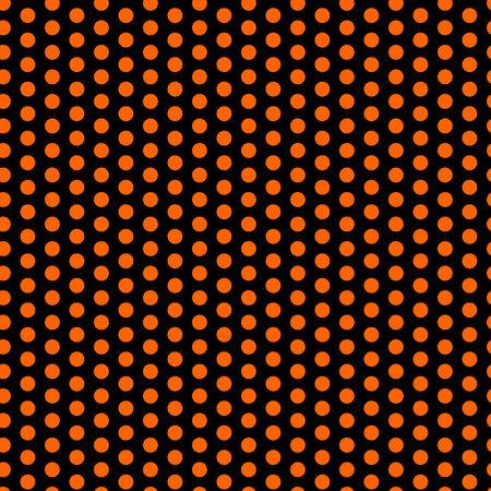 Halloween Seamless Dots Pattern Orange and Black Vector