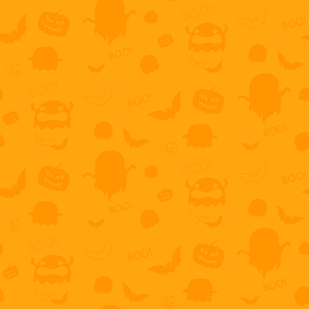 Happy Halloween Ghost Bat Icon Background Vector