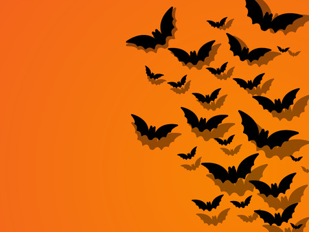 Happy Halloween Ghost Bat Icon Background