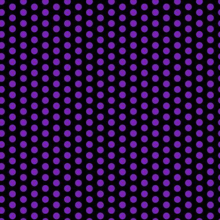 Halloween Seamless Dots Pattern Purple and Black Vector