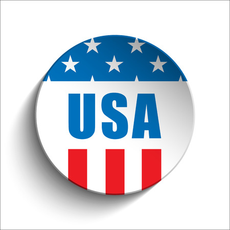 us independance: Vector - United States Independence Day Button Illustration