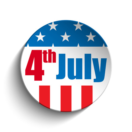 independance: Vector - United States Independence Day Button Illustration