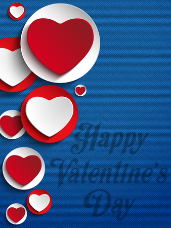 Vector - Valentines Day Heart Jeans Background Vector