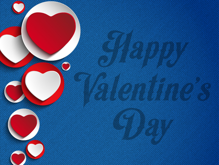 jeans background: Vector - Valentines Day Heart Jeans Background Illustration