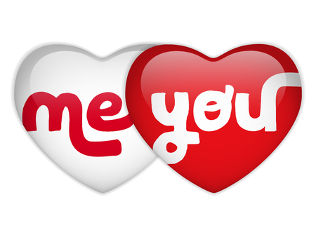 me: Vector - Valentine Day Me and you Heart
