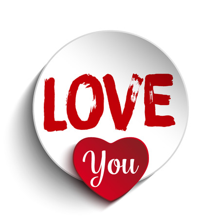 love you: Vector - Valentine Day I Love you Heart