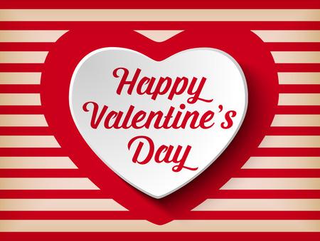 ornate heart: Vector - Valentine Day Heart on Retro  Background Illustration