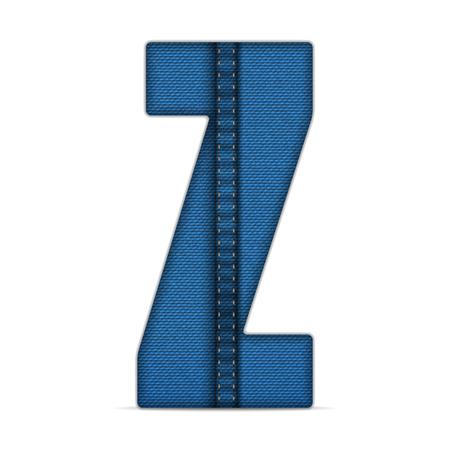 blue jeans: Vector - Alphabet Blue Jeans Letter