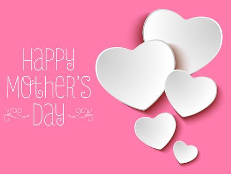 tarjeta de invitacion: Vector - feliz d�a de la madre del fondo del coraz�n Vectores