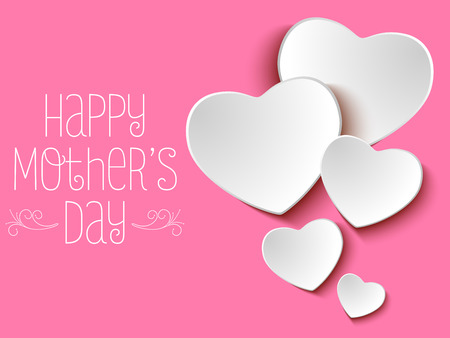 invitations card: Vector - Happy Mother Day Heart Background