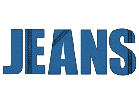 denim jeans: Vector Jeans Denim Blue Letters