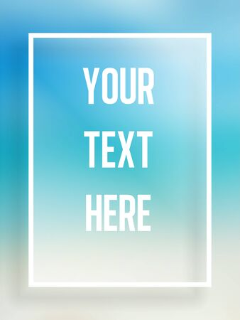 Vector Beautiful summer single frame for text Vector