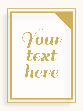boarder: Vector Yellow and White single lines frame