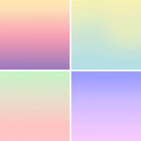 Vector - Blurred mesh gradient background pastel colors Ilustracja