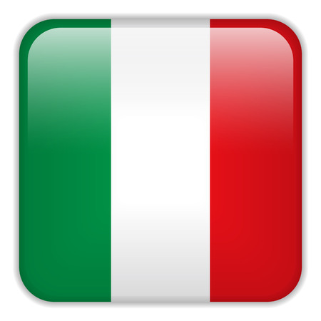 square buttons: Vector - Italy Flag Smartphone Application Square Buttons Illustration