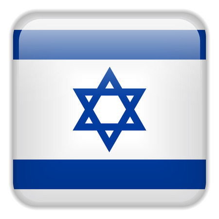 square buttons: Vector - Israel Flag Smartphone Application Square Buttons