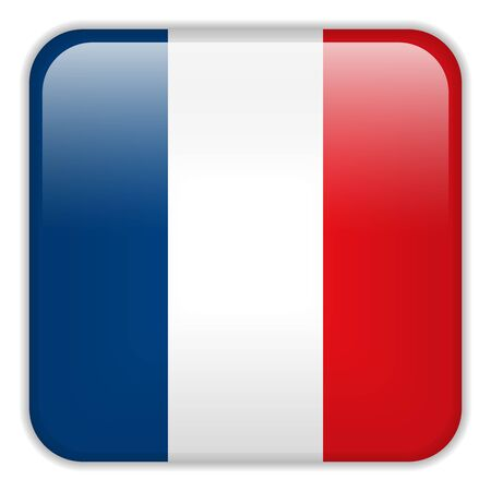 square buttons: Vector - France Flag Smartphone Application Square Buttons Illustration
