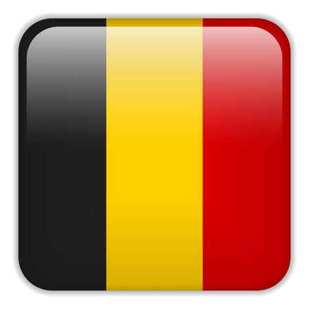 square buttons: Vector - Belgium Flag Smartphone Application Square Buttons