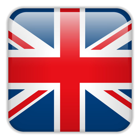 square buttons: Vector - United Kingdom England Flag Smartphone Application Square Buttons Illustration