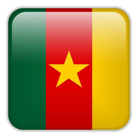 cameroonian: Vector - Cameroon Flag Smartphone Application Square Buttons