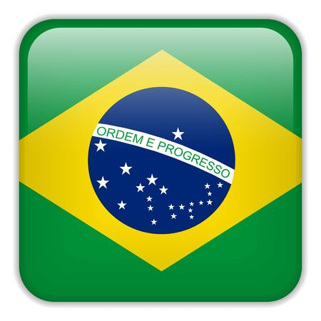 square buttons: Vector - Brazil Flag Smartphone Application Square Buttons
