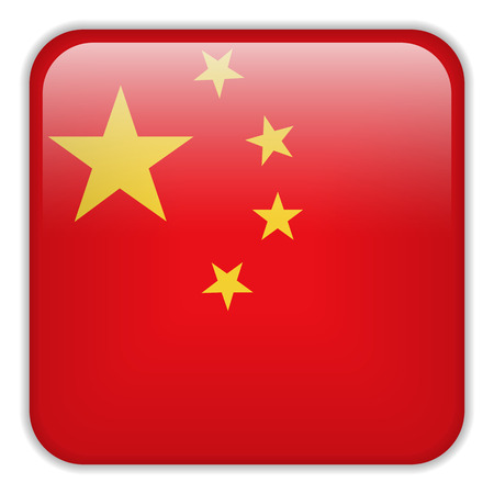 square buttons: Vector - China Flag Smartphone Application Square Buttons