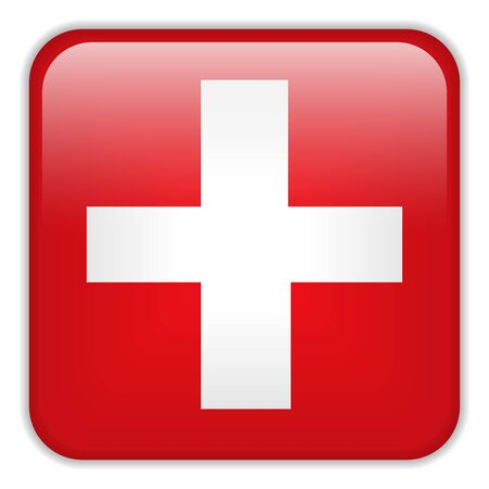 square buttons: Vector - Switzerland Flag Smartphone Application Square Buttons