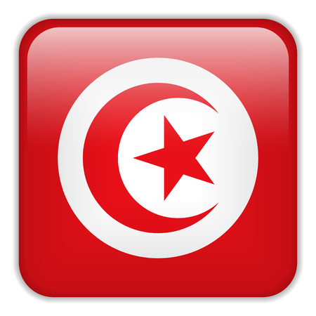 square buttons: Vector - Tunisia Flag Smartphone Application Square Buttons