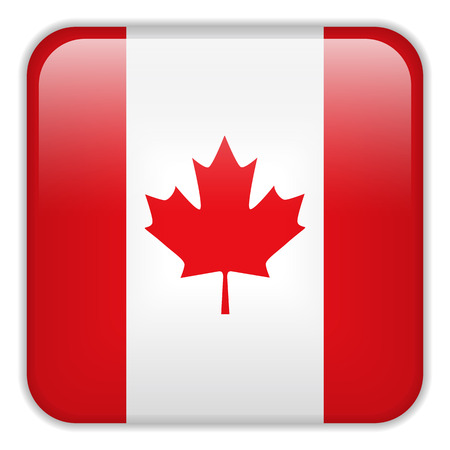 square buttons: Vector - Canada Flag Smartphone Application Square Buttons